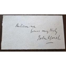 Sir John Eldon Gorst PC QC FRS (1835-1916)  Signed letter clip