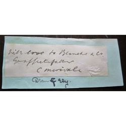 Charles Merivale, Dean of Ely, signed letter clip (1808-1893)