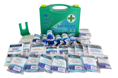 First aid kits, first aid supplies, plasters and bandages