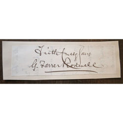 George Farrer Rodwell Signed Letter Clip