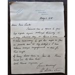 William Fletcher Shaw, Surgeon, Signed 1928 Letter