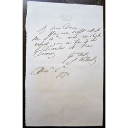 Gerald Wellesley, Dean of Windsor, Signed Clipped Letter 1870