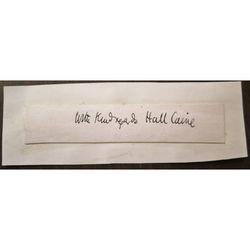 Sir Thomas Henry Hall Caine CH KBE (1853-1931) Autograph Clip