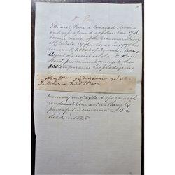 Dr Samuel Parr (1747-1825) Clipped signature & notes Headmaster Colchester