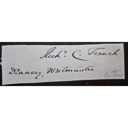 Richard Chenevix Trench, Dean Westminster, Archbishop Dublin, Signed Letter Clip