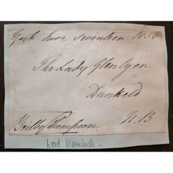 Beilby Richard Lawley (Thompson), 2nd Baron Wenlock 1836 Signed Envelope