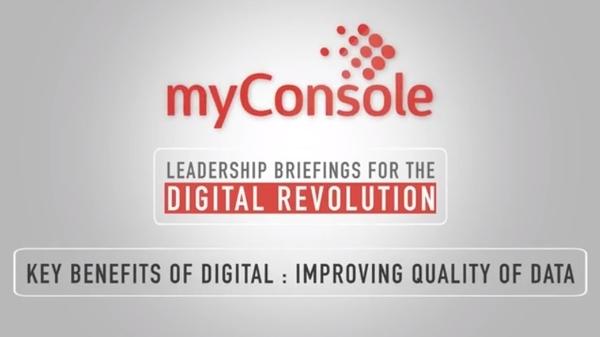Key Benefits of Digital - Improving Quality of Data