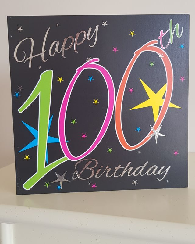 100th Coloured Stars Birthday Card Remember That Card Greeting