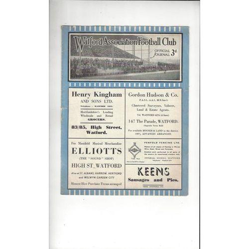 1946/47 Watford v Queens Park Rangers Football Programme