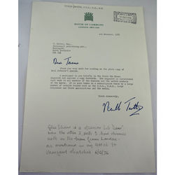 Sir Neville Guthrie Trotter Autographed Letter 1976
