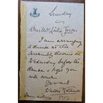 Lieutenant-General Sir Frederick Walter Kitchener, KCB Signed Part Letter