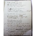 Mr Crowther 1826 Handwritten Poem on Death of Fidelle