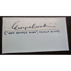 Wee Georgie Wood Autograph Clip