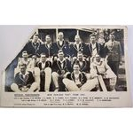 1931 Real Photo Postcard New Zealand cricket team (corner missing)