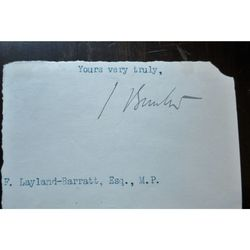 Sydney Buxton, 1st Earl Buxton  Postmaster General signed Letter clip