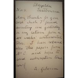 Agnes Giberne Author Signed Postcard 1880