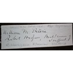 William Carter Archbishop Capetown + R Hodgson Archdeacon Stafford Signatures