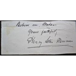 Hugh Stowell Scott Novelist 1862-1903 (Henry Seton Merriman) Signed letter clip