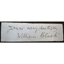 William Black (1841-1898) Novelist Autograph