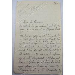 Johan Ludvig Heiberg 1908 Signed Letter (re conference paper?)