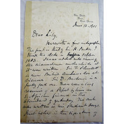William George Aston CMG (1841-1911) Signed Letter 1901