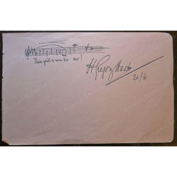 Harold Gregory Hast Tenor Music Notes Autograph 1901