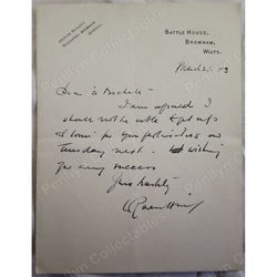 Leonard Raven-Hill (Punch cartoonist) 1903 Signed Letter