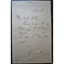 Harold Gregory Hast Tenor Signed Letter 1906
