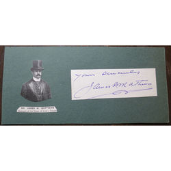 James W Matthews, Manager, Duke of York's Theatre, Autograph Clip
