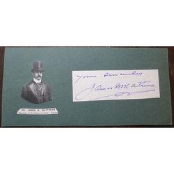 James W Matthews, Manager, Duke of York's Theatre, Autograph Clip
