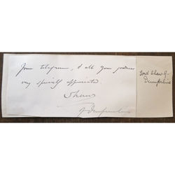 Thomas Shaw, 1st Baron Craigmyle (Lord Shaw of Dunfermline) Signed letter clip