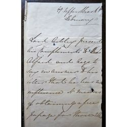 Anthony Ashley Cooper, 7th Earl of Shaftesbury, Letter to Rev Alford