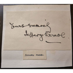 Jeffery Farnol (1878-1952), Writer, Clipped signature