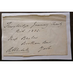 Thomas Lister, 2nd Baron Ribblesdale, Signed Envelope 1832