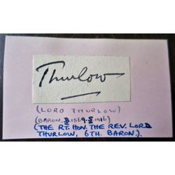 Charles Edward Hovell-Thurlow-Cumming-Bruce, 6th Baron Thurlow Autograph clip