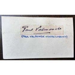 Paul Valmonde, 1920s Conjurer, Magician and Ventriloquist, Autograph