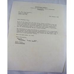Facsimile Maxim Gorky society 1978  Letter Tony Benn (real or propoganda spoof?)