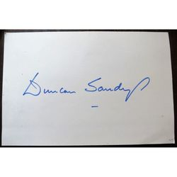 Edwin Duncan Sandys, Baron Duncan-Sandys (headless man?) Autograph