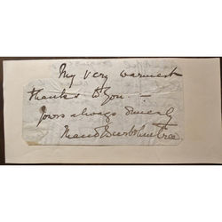 Lady Maud Beerbohme Tree (nee holt) Signed letter clip