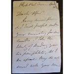 George Montagu, 6th Duke of Manchester Signed 1854 Letter