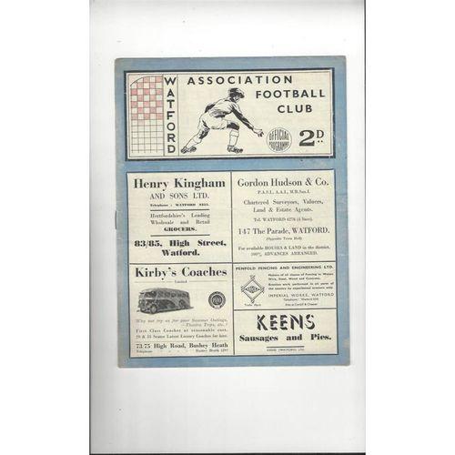 1947/48 Watford v Leyton Orient Football Programme