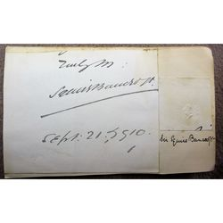 Squire Bancroft Signed 1910 Letter clip