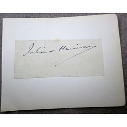Julius Allan Greenway Harrison Composer Signature Clip