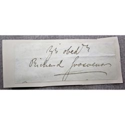 Richard Grosvenor, 2nd Marquess of Westminster (?) Signature clip