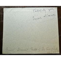 Ernest Dimnet (1866-1954) Signed Letter Clip