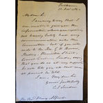 Charles James Blomfield 1786-1857 Bishop of London 1842 Signed Letter