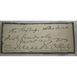 James Thomas O'Brien Bishop of Ossory Signed letter clip