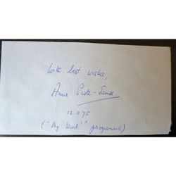 Anne Eleanor Scott-James, Lady Lancaster  1975 Autograph