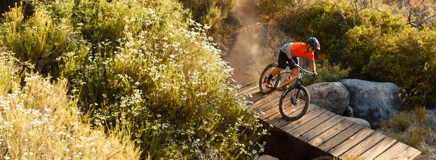 large range of mountain bikes from Giant and GT