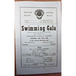 Penarth Swimming Gala July 1950 Programme